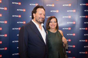 Ο ιδιοκτήτης του Action24 Δ. Παναγιωτάκης μαζί με τη σύζυγό του, πρώην υφυπουργό του ΠΑΣΟΚ, Ε. Κούρκουλα