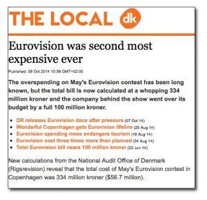 eurovision copenhagen expensive