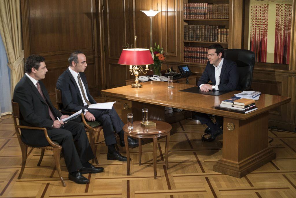 ΕΡΤ-1 συνέντευξη Τσίπρα-