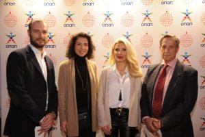 Πετρ Ματεγιόφσκι, Έλσα Σταθοπούλου, Ελένη Μενεγάκη και Γιώργος Παπαδάκης, στη εκδήλωση που πραγματοποιήθηκε εχθές στο Smart Park για την ενεργοποίηση της δράσης Ευχοστολίδια