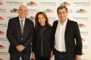 Οι εκπρόσωποι της Ιπποδρομίες ΑΕ και του MDA Hellas, στον Ιππόδρομο Αθηνών