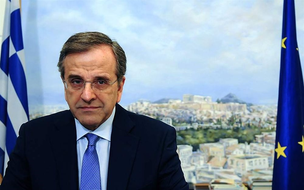 Α. Σαμαράς σε ΣΚΑΪ: Όλη η χώρα κρατιότανε όρθια με αερομεταφορά χαρτονομισμάτων από την Ευρωπαϊκή Κεντρική Τράπεζα στη Φρανκφούρτη
